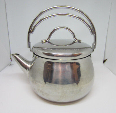 Vintage Lagostina Stainless Steel Tea Kettle - 2qt - Fixed Handle