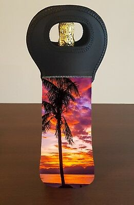Beach Sunset Wine Bottle Cooler Carry Bag