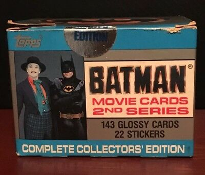 1989 Topps BATMAN Movie Cards 2nd Series Factory Sealed Complete Set