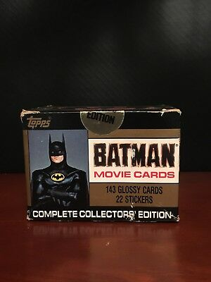1989 Topps BATMAN Movie Card Factory Sealed Complete Set