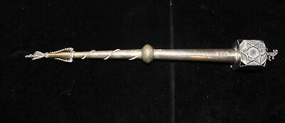 Antique Judaica Jewish Russian 84 Silver Yad Torah Pointer  Hallmark 1889 .12""