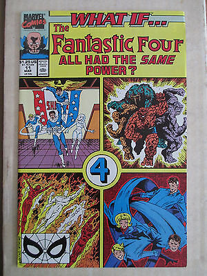 What If...? # 11 (Vol 2) FN- (Mar. 1990 Marvel) Fantastic Four Jim Valentino