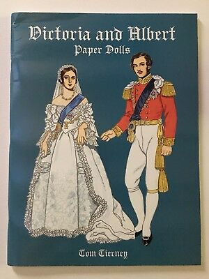 VICTORIA and ALBERT Paper Doll Book, by Tom Tierney, Dover Books, 2000, Minty