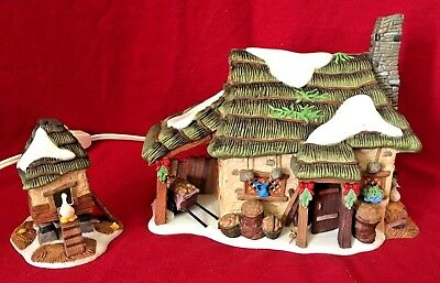 McShane Cottage Dept 56 Dickens Village 58444 Christmas house manor snow city A