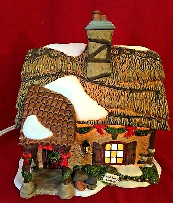 Hollyberry Cottage Dept 56 Dickens Village 58729 Christmas house snow city A