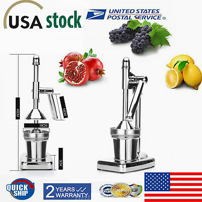 Commercial Hand Press Manual Fruit Juicer Juice Squeezer Citrus Orange Lemon USA