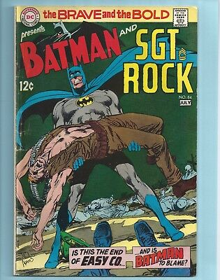 DC Comics The BRAVE And The BOLD #84 Batman and Sgt. Rock