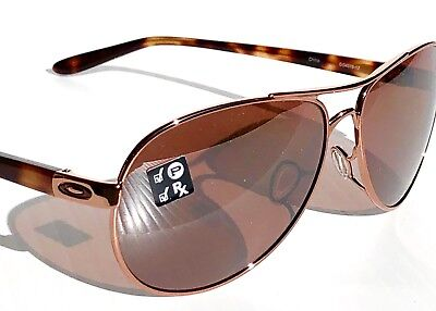 NEW* Oakley Feedback Rose Gold Tort POLARIZED AVIATOR Women's Sunglass oo4079-12