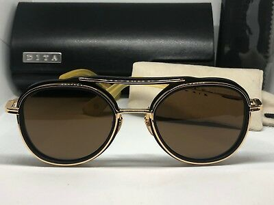 9e0b1aeaf5 Authentic Dita SPACECRAFT Matte Black Yellow Gold dark Brown (A-BLK- sunglasses