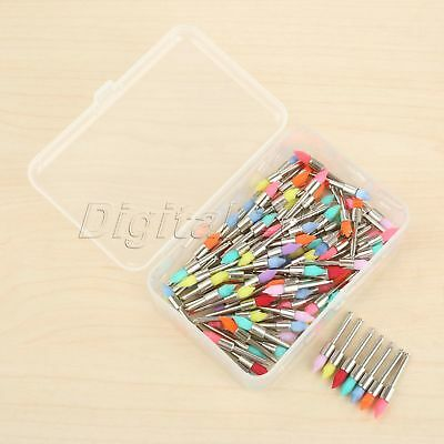 100Pcs Durable Mixed Color Nylon Dental Polishing Prophy Brushes Teeth Polisher
