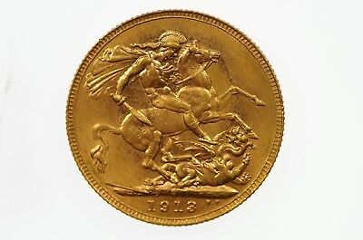 1913 Perth Mint Gold Full Sovereign in Very Fine Condition