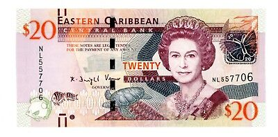 East Caribbean States ... P-New ... 20 Dollars ... ND(2016) ... *Ch UNC*