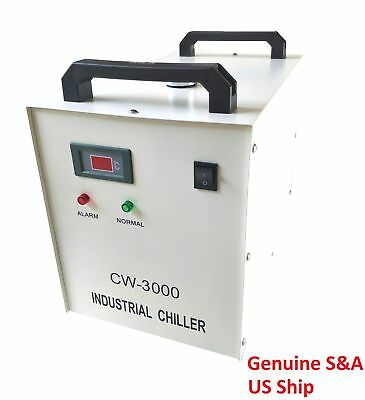 Genuine S&A CW-3000DG 110V Water Chiller Cool 50W 60W 80W CO2 Laser Tube CE RoHS