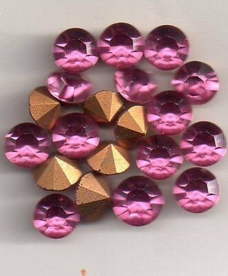 10 Strass Rond Ss 34 Rose 7.07 Mm