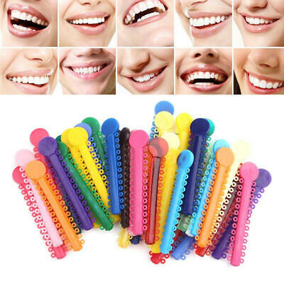 1 Bag Dental Orthodontic Ligature Ties Elastic Rubber Bands 12 Colors 5 Pcs Lot