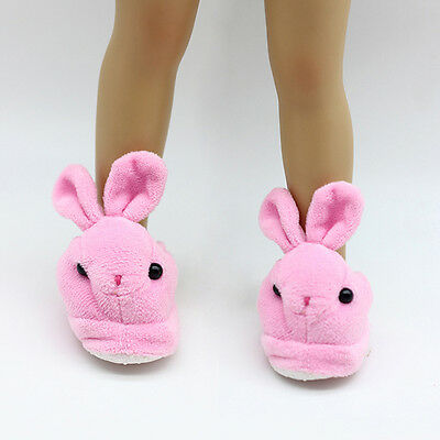 "Cute Pink Bunny Slippers 18 Inch Doll Clothes Fits 18"" Dolls Toys HandmadeT"