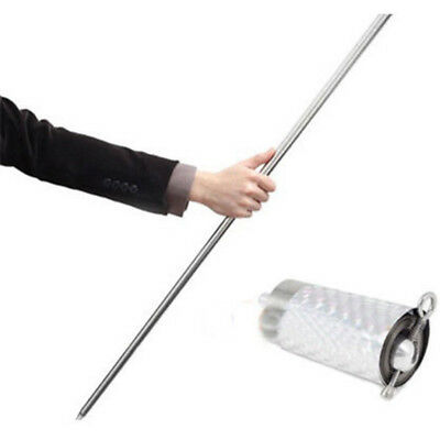 appearing cane metal silver magic tricks close up illusion silk to wand Stick x1