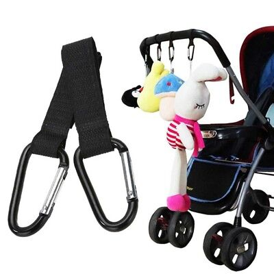 2 x Shopping Bag Hooks For Buggy Pram Pushchair Stroller Clips Large Hand Carry