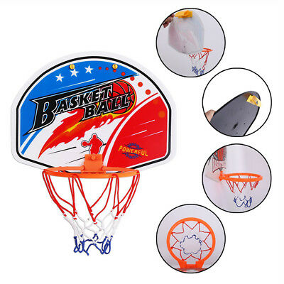 Indoor Kids Game Mini Basketball Hoop Set Over the Door Plastic Backboard AU