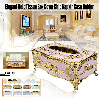 Decoration Tissue Box Case Cover Bathroom Paper Napkin Holder Home Office Decor