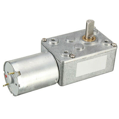 12V 12rpm DC JGY370 Worm Turbo Gear Motor Right Angle Gear Metal Gearbox L5E1