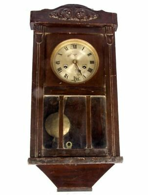 Vintage Antique Wooden Art Theme Clock Home Decor Old Pendulum Wall Clock HB 058