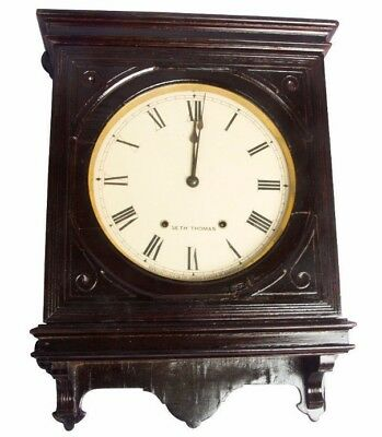 Wooden Collectible Old Vintage Antique Royal Stand Clock Seth Thomas HB 082
