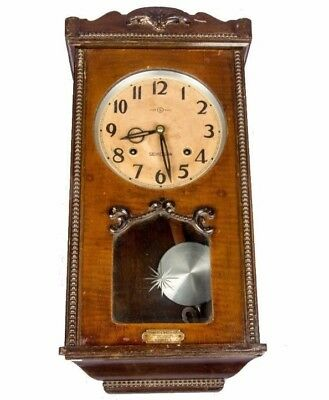 Antique Old Vintage Wooden Collectible Pendulum Style Wall Clock HB 061