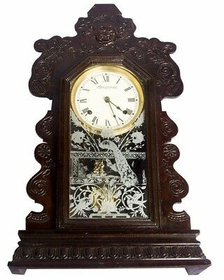 Ansonia Vintage Wooden Art Collectible Designed Look Antique Wall Clock HB 084