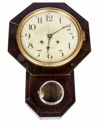 Vintage Antique Old Wooden Art Collectible Octagon Pendulum Wall Clock HB 069