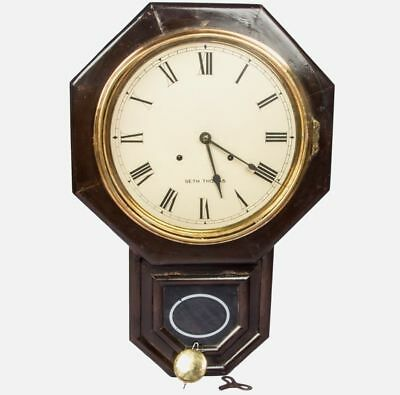 Seth Thomas Antique Drop Octagon Wooden Collectible Pendulum Wall Clock HB 047