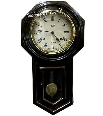 Vintage Stylized Antique Time Piece Dark Wooden Style Pendulum Clock HB 0243