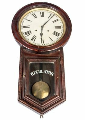 Antique Wooden Collectible Finished Handcrafted Pendulum Wall Clock HB 066