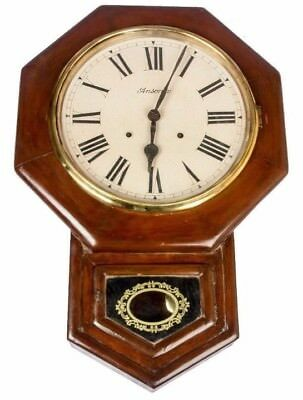 Ansonia Old Style 8 Cornered Wooden Art Collectible Pendulum Wall Clock HB 074