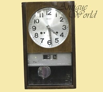 Vintage Old Japanese Made 'Seiko' 30-Day Wall Clock Antique Collectible HB 0165