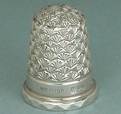 Mint Antique English Sterling Silver Thimble by Charles Horner * Hallmarked 1897