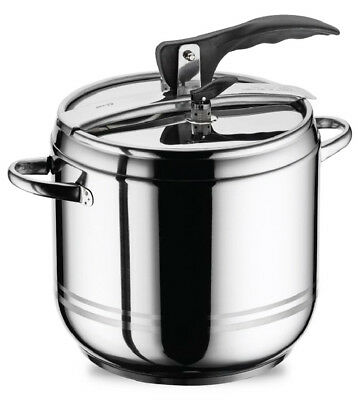 7 L Stainless Steel Stovetop Pressure Cooker Casserole Stockpot Induction Base