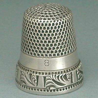 Antique Sterling Silver Thimble by Ketcham & McDougall * Circa 1890s