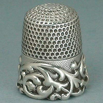 Antique Louis XV Band Sterling Silver Thimble by Ketcham & McDougall *Circa1890s