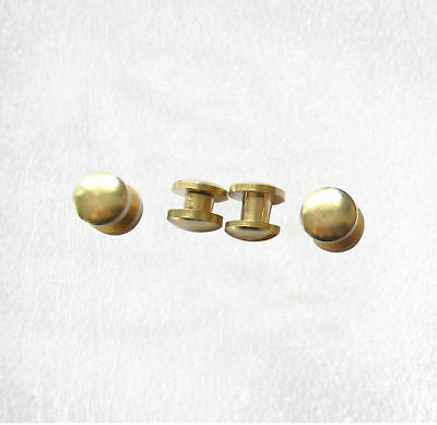Solid Brass Chicago Screws 8mm Diameter Cambered Head 3mm or 4mm high