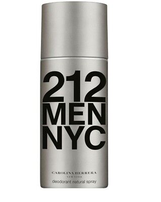 Carolina Herrera 212 For Men 150Ml Deodorant Spray Brand New