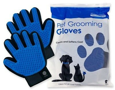 Upgraded Pet Shedding Mitts | Dog, Cat & Horse Hair Remover/Grooming Gloves Pair