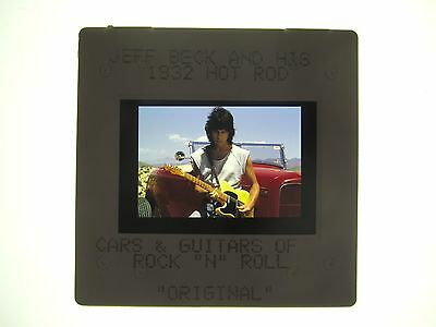 Jeff Beck With 32 Ford Hot Rod Press Photo Slide - 2000