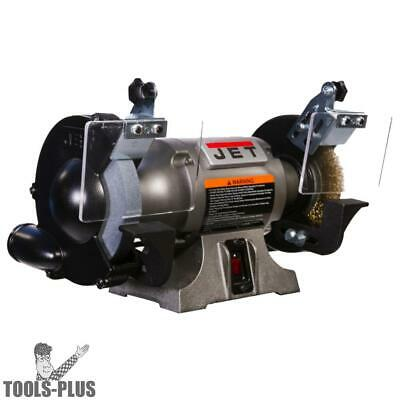 """JET 577126 Shop Grinder with Grinding Wheel and Wire Wheel 6"""" New"""
