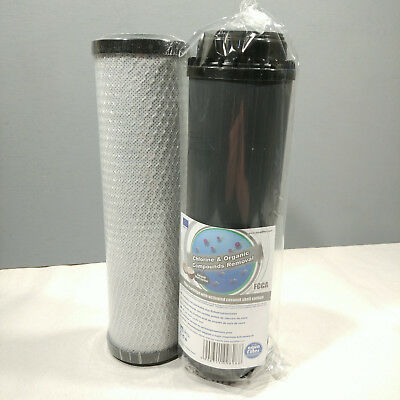 "10"" Carbon Block And GAC For Fish Pond Dechlorinator Chlorine Removal"