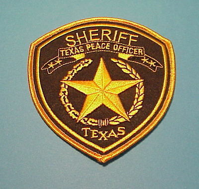 Texas Peace Officer ( Gold Border )  Sheriff /  Police Dept. Patch Free Shipping