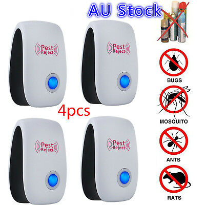 4x Pest Repeller-Ultrasonic-Electronic Mouse Rat Mosquito Insect Rodent Control