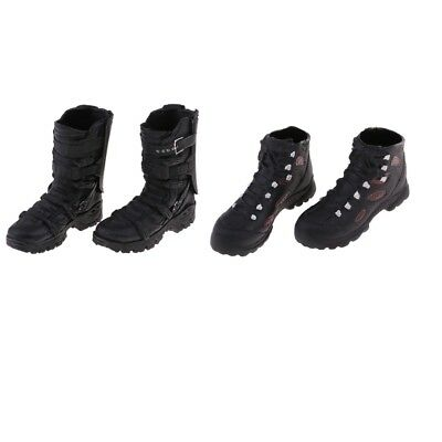 2 x 1/6 Scale Male Black Sports Shoes Ankle Boots for 12'' Phicen Figure Toy