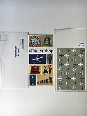 1973 KLM In-flight Dinner Menu, KLM Jet Shop Brochure and Order Envelope
