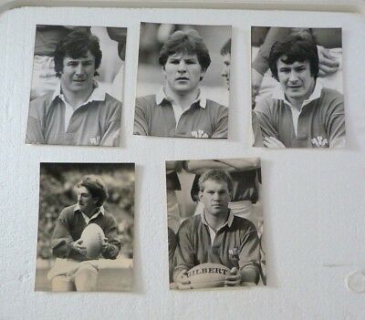 5 X Rugby Union Original Press  Photos ,wales Players 1980's